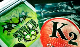 The mix of herbs known as spice produces a high comparable to marijuana but is marketed legally as incense. K2 is a brand under which spice is sold. (Photo by the Drug Enforcement Administration)