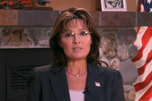 Sarah Palin delivers her take on the charge that brash political rhetoric is blame for the recent shooting in Tucson. (screenshot)