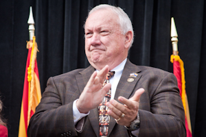 Senate Pres. Russell Pearce, seen here at the statewide Jan. 3 inauguration (Photo by Evan Wyloge/Arizona Capitol Times)