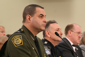 Border Patrol Chief Michael Fisher defended his agency to a House subcommittee, testifying that the border is more secure because of more agents on the ground and better technology in the field. (Cronkite News Service photo by Emilie Eaton)