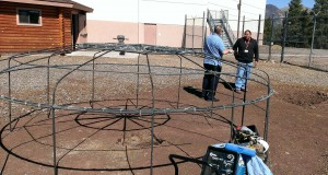 The sweat lodge planned for the Coconino County Jail will have a fire pit outside and a basin inside that will hold heated rocks. (Cronkite News Service Photo by Andrew Knochel)