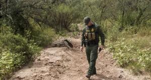 A Border Patrol agent on patrol along the Southwest border near Nogales. (Photo courtesy Josh Denmark/CBP)