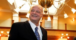 This Dec. 3, 2012 file photo shows Arizona Attorney General Tom Horne at the Historic Senate Chambers at the Capitol in Phoenix. (AP Photo/Ross D. Franklin, File)