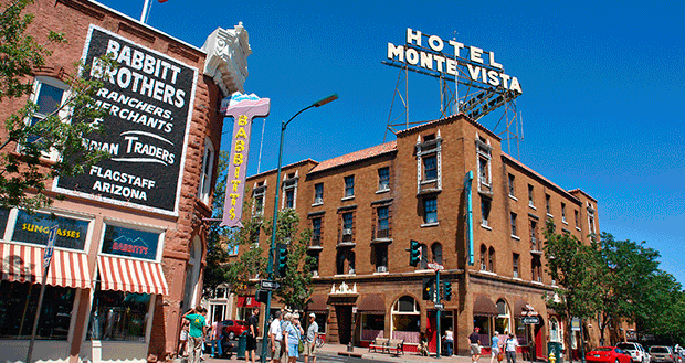 Downtown Flagstaff is pictured in 2009 with the historic Hotel Monte Vista, built in 1926, keeping the growing city connected to its past.
