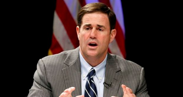 Doug Ducey, Republican candidate for governor in Arizona, speaks during a gubernatorial debate on the subject of education Sept. 28 in Phoenix. (AP Photo/Ross D. Franklin)