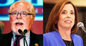 Ron Barber and Martha McSally. (AP photos)