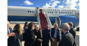 Alan Gross arrives at Andrews Air Force Base (AP Photo/Jeff Flake)