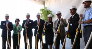 Representatives of the Tohono O'odham Nation, Glendale and other organizations broke ground in August on the tribe's planned $400 million casino resort in the West Valley. (Cronkite News photo by Linxiao Li)