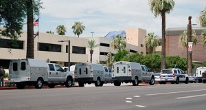 The Attorney General's office was evacuated on the morning of July 28 because of a bomb threat. (Photo by Rachel Leingang/Arizona Capitol Times)