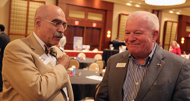 Lobbyist Barry Aarons (L) and Republican Al Melvin, Arizona Corporation Commission. (Photo by Gary Grado, Arizona Capitol Times)