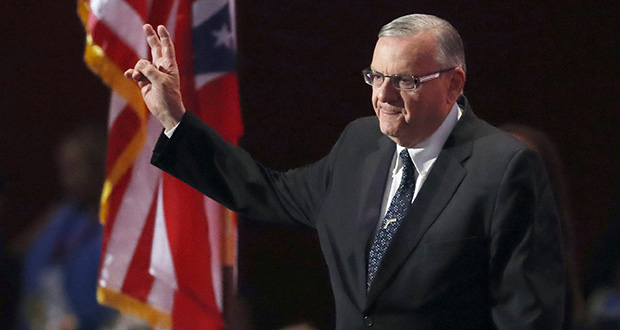 July 21, 2016 file photo of Sheriff Joe Arpaio (Associated Press)