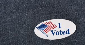 """I voted"" sticker"