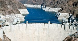 The Hoover Dam and Lake Mead