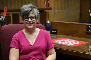 Senate Minority Leader Katie Hobbs (D-Phoenix) (Photo by Katie Campbell/Arizona Capitol Times)