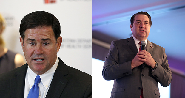 From left are Doug Ducey and Mark Brnovich