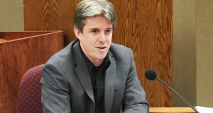 In this file photo, Doug Logan, CEO of Cyber Ninjas, answers questions at a previous hearing of sorts to discuss the issues with the current Senate-ordered audit of Maricopa County election returns.