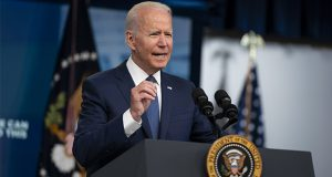 President Joe Biden speaks about the COVID-19 vaccination program during an event in the South Court Auditorium on the White House campus, Tuesday, July 6, 2021, in Washington. (AP Photo/Evan Vucci)